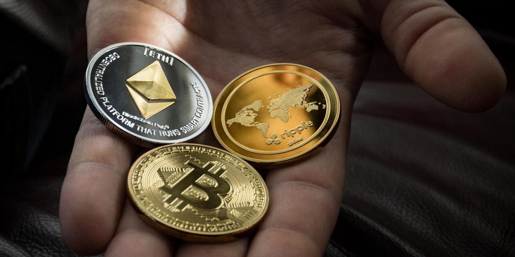 Kryptowaehrungen Wie funktionieren sie und welche gibt es - Bitcoin Geldmuenzen