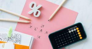 Wie-stehen-Dividenden-und-Steuern-zueinander-Prozent-Taschenrechner-Stifte-Block