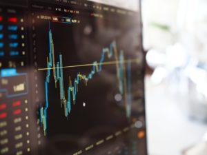 Korrektur bei Technologieaktien - Aktienchart
