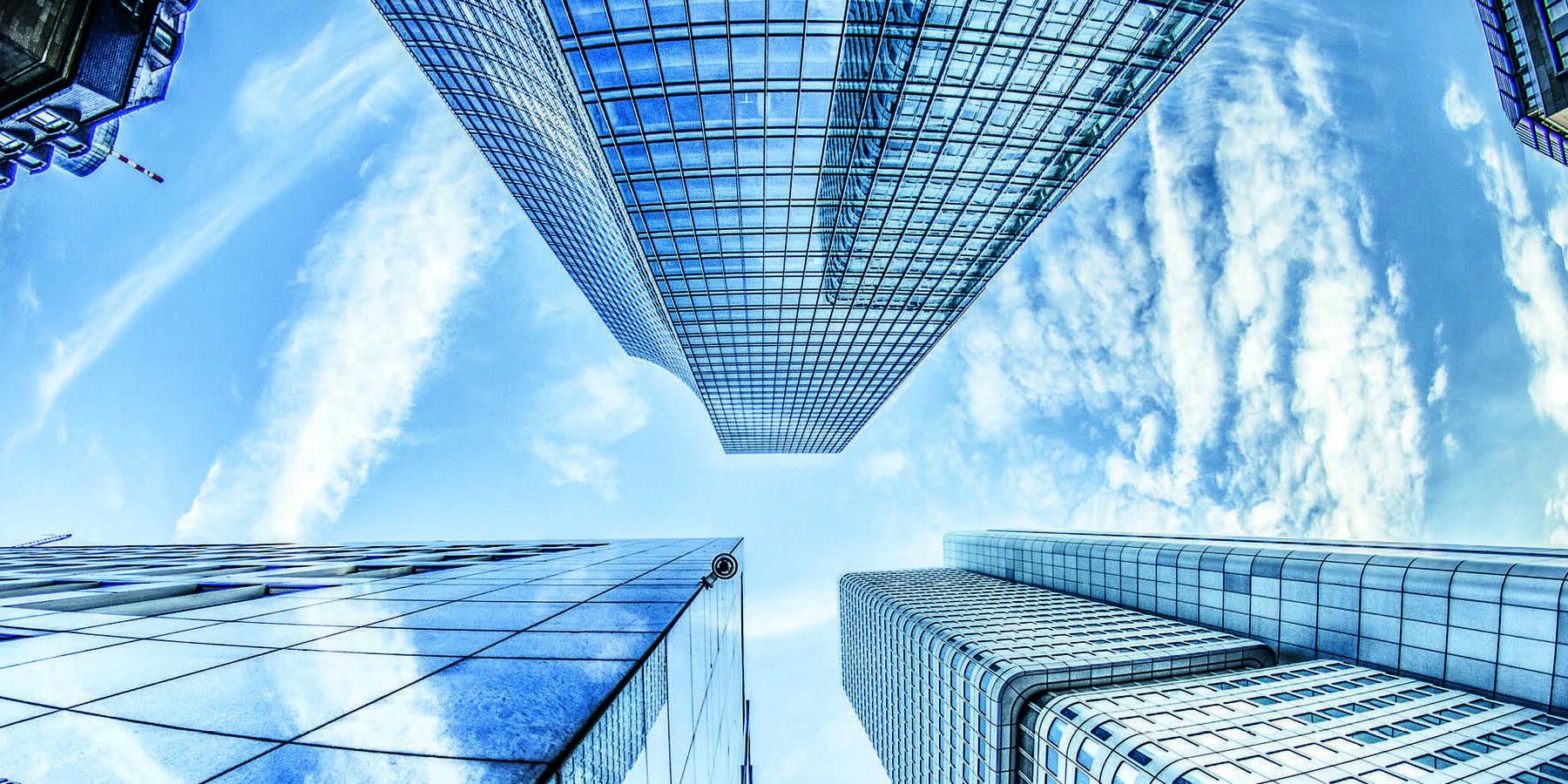 Neuer Dax 40 - Umbau - Bild von Wolkenkratzern die in den Himmel ragen