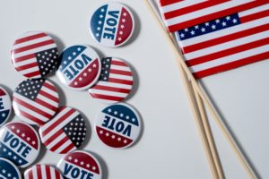 US-Präsidentschaftswahl - USA Flagge